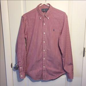 Ralph Lauren Slim Fit Striped button down Shirt/ S
